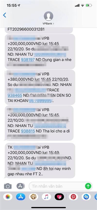 Minh Ngọc nhận được 5 tin nhắn từ phía anh trai của mình