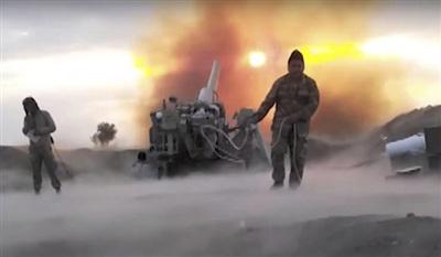 Các binh sĩ Azerbaijan nổ pháo nhằm vào lực lượng ly khai Nagorno-Karabakh (Ảnh: Azerbaijan Defence Ministry)