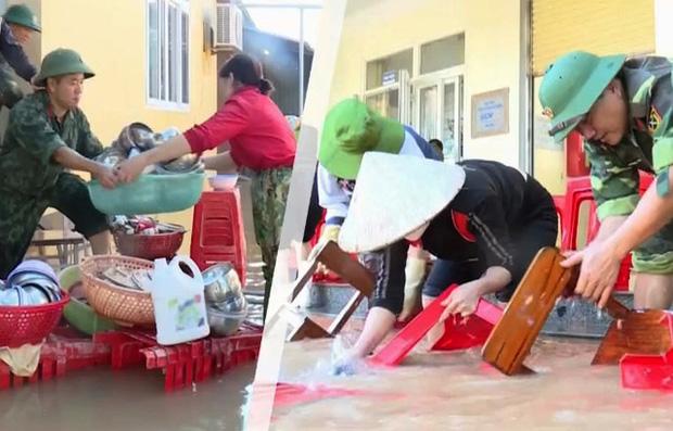 Tổng vệ sinh, tiêu độc khử trùng tại các lớp học trên địa bàn huyện Đức Thọ.