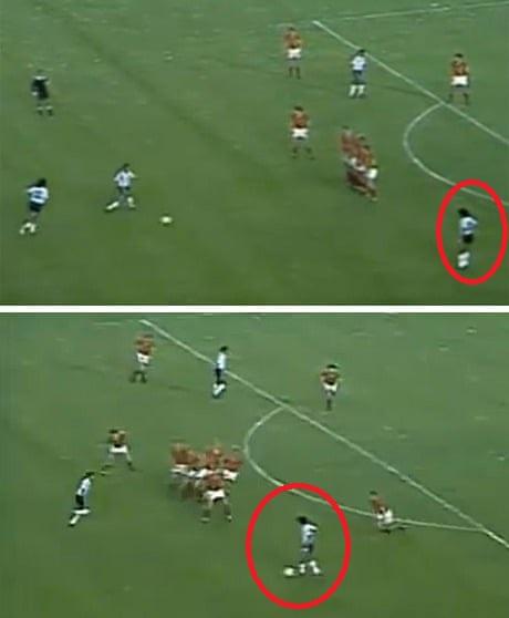 Maradona kỳ thực đã không tạo được nguy hiểm trong tình huống của bức ảnh
