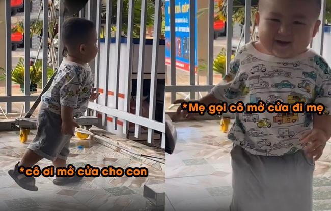 Cậu nhóc với màn đi học mẫu giáo khiến mẹ cười ra nước mắt.
