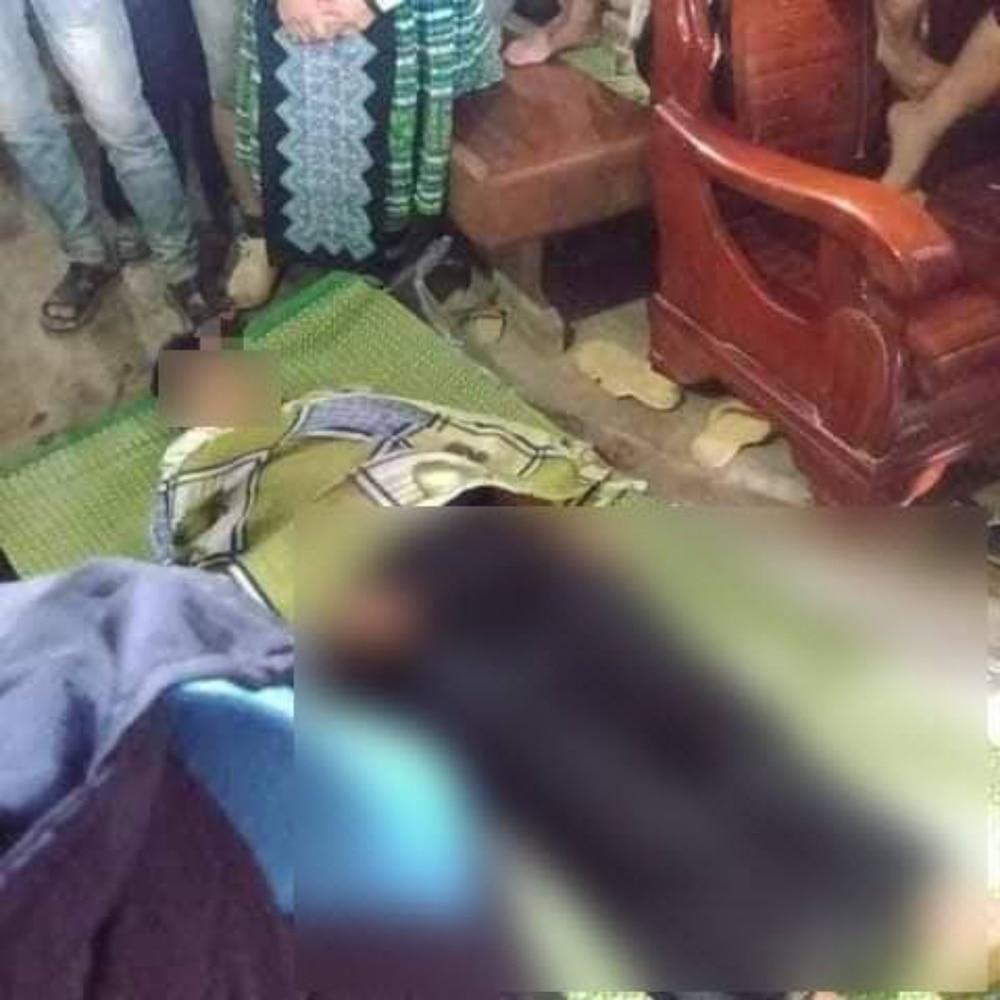 Người thân lo tang lễ cho nạn nhân xấu số.