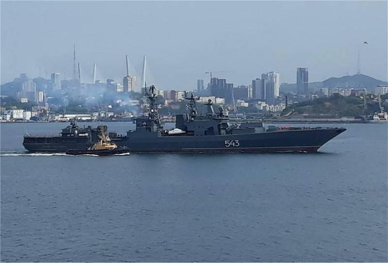 Siêu tàu khu trục Marshal Shaposhnikov của Hải quân Nga. Nguồn: people.com.cn.
