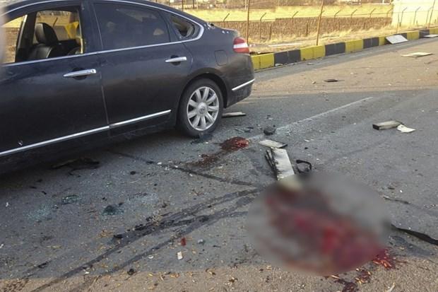 Hiện trường vụ sát hại ông Mohsen Fakhrizadeh. (Ảnh: Fars News/AP)