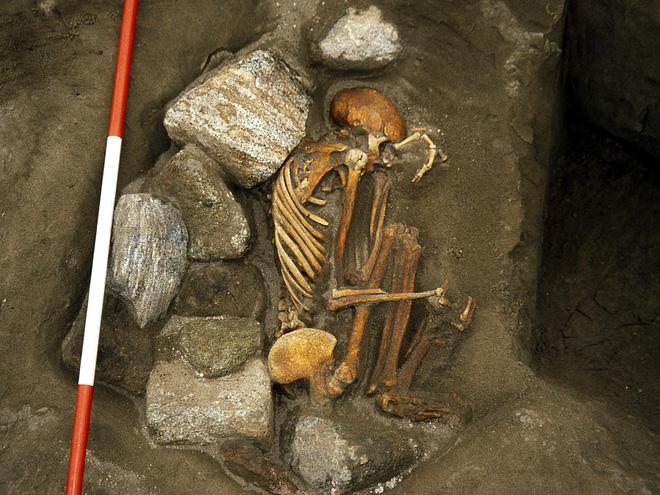 Thi thể hơn 3.000 năm tuổi tìm thấy ở Scotland đã được ướp xác bằng phương pháp tự nhiên. Ảnh: Đại học Shegffield