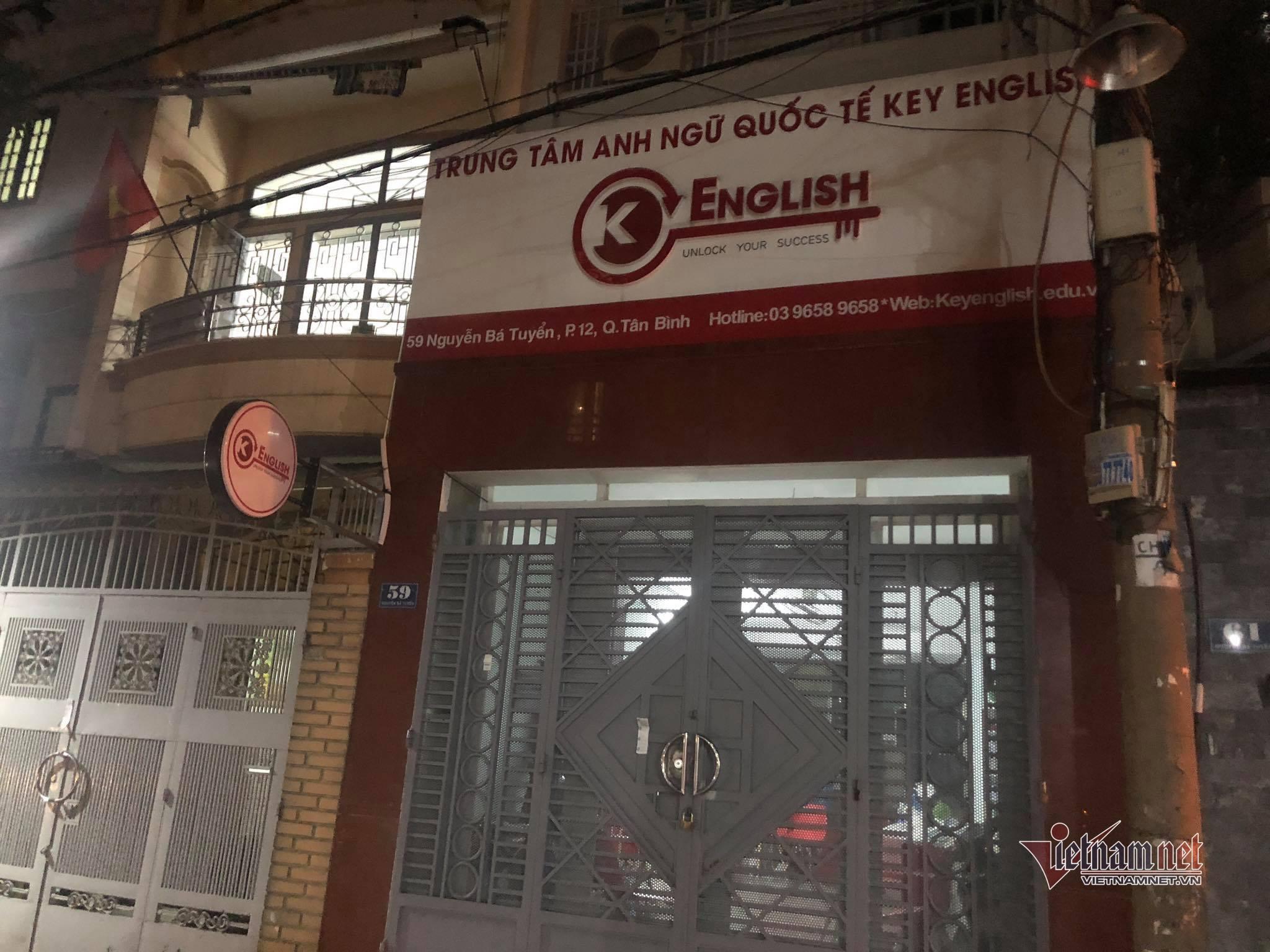 Trung tâm Anh ngữ trên đường Nguyễn Bá Tuyển (quận Tân Bình, TP.HCM), nơi bệnh nhân 1347 dạy học. Ảnh: Thanh Tùng