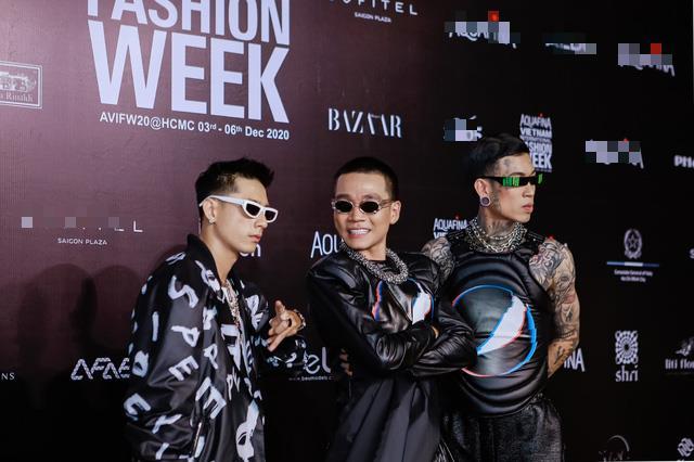 Bộ ba thầy trò Rap Việt rạng rỡ tại sự kiện