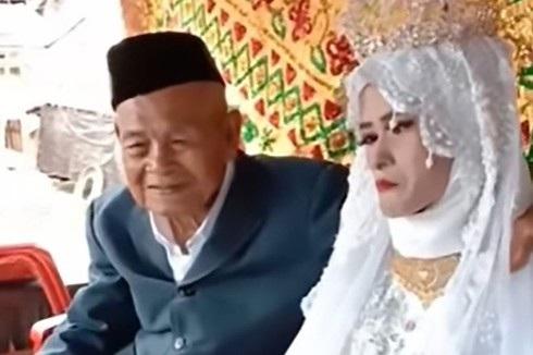 Cụ ông Katte và cô dâu Indo Alang trong đám cưới