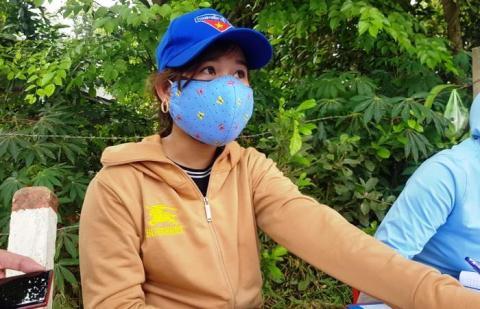 Chị Nguyễn Thị Thu Lệ, người bị thanh niên hành hung.