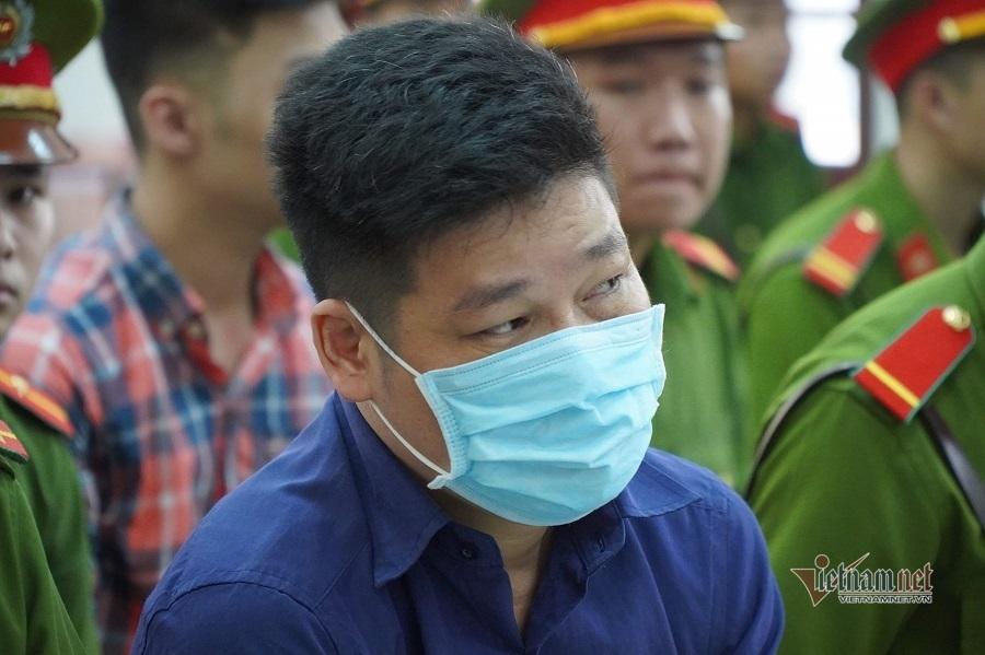 Nguyễn Tấn Lương tại phiên tòa xét xử tội gây rối trật tự công cộng