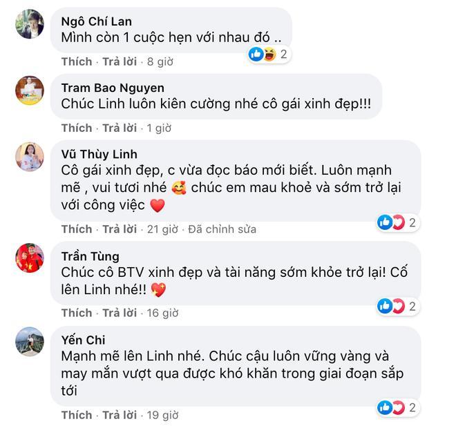Đồng nghiệp ở VTV và kênh QPVN chúc Diệu Linh sớm khoẻ