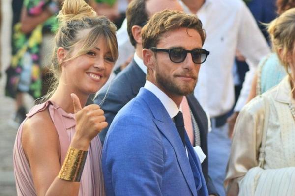 Marchisio cùng vợ Roberta Sinopoli.