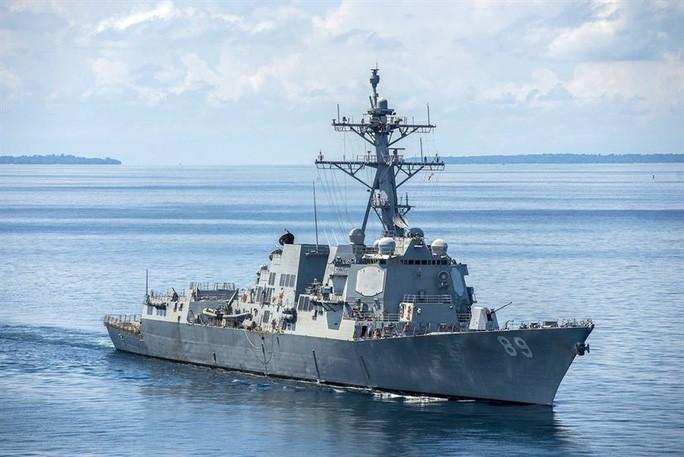 Tàu khu trục mang tên lửa dẫn đường USS Mustin lớp Arleigh Burke của Mỹ. Ảnh: Hải quân Mỹ