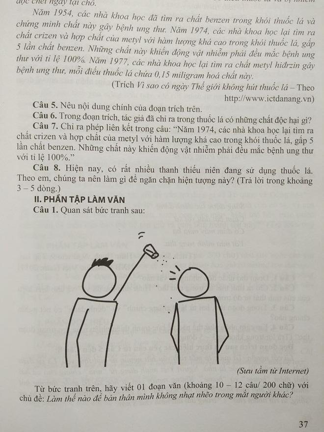 Cận cảnh đề thi Văn độc nhất vô nhị. (Nguồn: Ôn tập tuyển sinh vào lớp 10 môn Ngữ Văn)