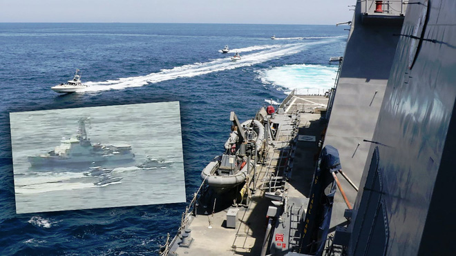 Tàu chiến Mỹ đã được nếm mùi khi đối đầu với 11 tàu tấn công cao tốc của Iran.