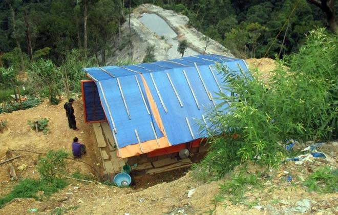 Một lán trại ở bãi vàng trên địa bàn huyện Phước Sơn (Ảnh minh họa).