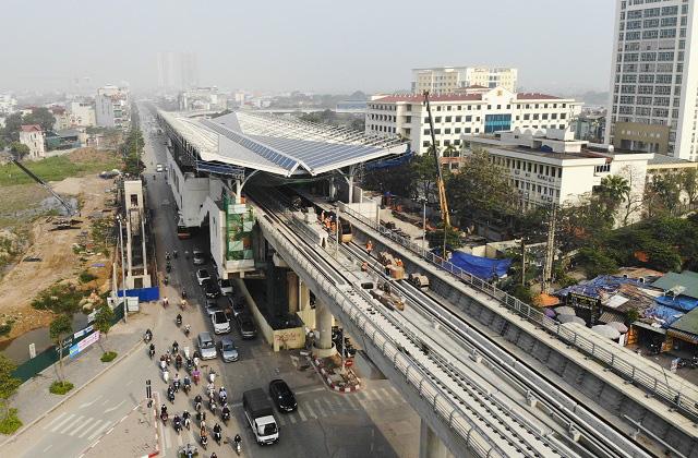 Các gói thầu trên cao của dự án đường sắt Nhổn - Ga Hà Nội đang được tiến hành.
