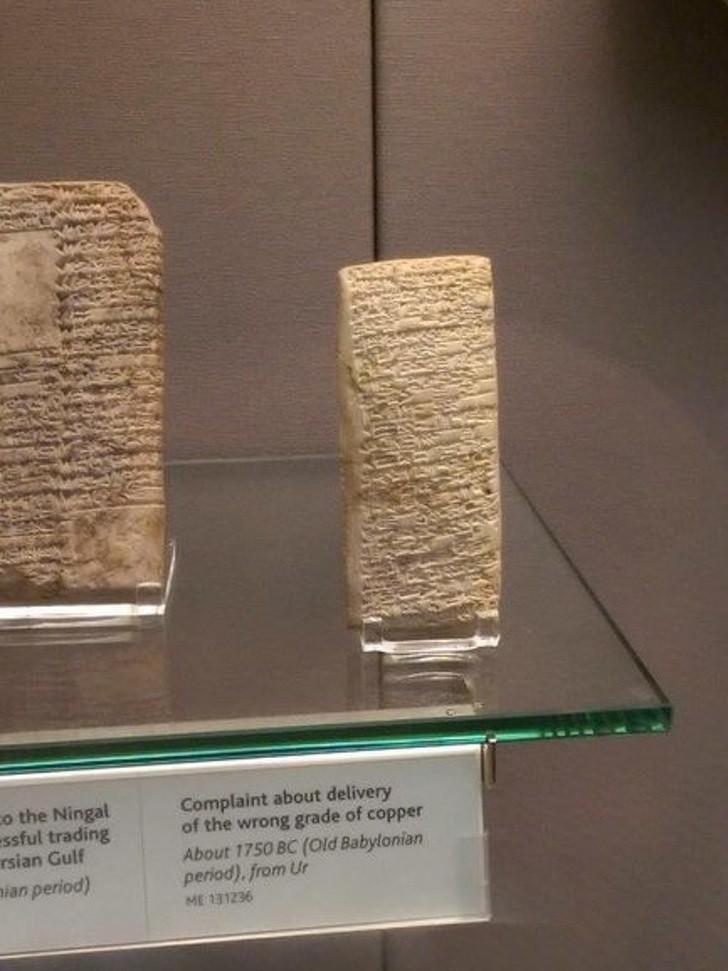 Bức thư phàn nàn về việc 'ship' nhầm đồ có từ tận năm 1750 trước Công Nguyên.