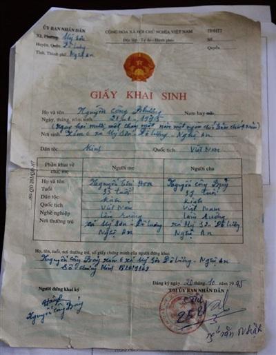 Những giấy tờ được tìm ra khi 'điều tra' tuổi thật của Công Phượng.
