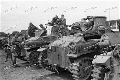 Quân độiLiên Xô bắt giữ được nhiều xe tăng Nhật. Ảnh : Sputnik