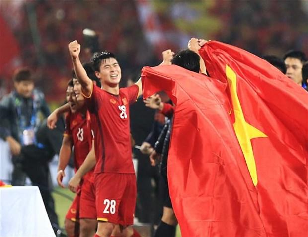AFF Cup 2020 cho phép các đội thay 5 người trong một trận đấu theo quy định mới nhất của FIFA. (Ảnh: Hoàng Linh/TTXVN)