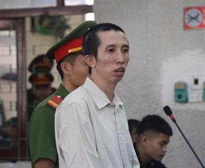 Bị cáo Bùi Văn Công một mực kêu oan, đề nghị tòa tìm ra hung thủ cầm đầu vụ án. Ảnh:HC