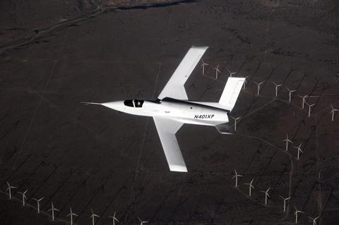 Hình ảnh được cho là nguyên mẫu máy bay chiến đấu không người lái Model 401 (N401XP)