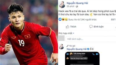 Tài khoản facebook của Quang Hải bị hack vào sáng ngày 23/6.
