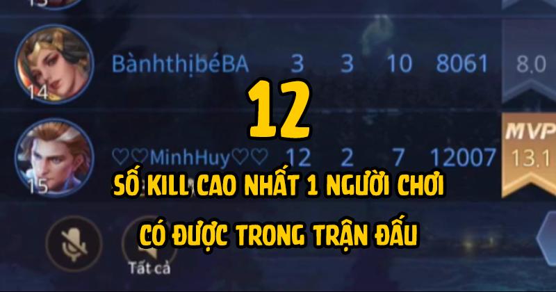 Không quá cao so với những vòng đấu trước song 12 kills/trận cũng là con số vô cùng ấn tượng mà Minh Huy (Team BMT)đã có được.