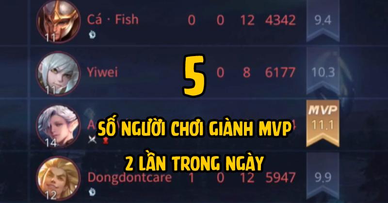 Có tới 5 người chơi giành được cú đúp MVP trong các trận đấu, đó là Hoàng TĐ (X132 Esports), Anh Mã (Takademy), Trang (Sugar Babe), LB (Mocha Hương Dii) và Minh Huy (Team BMT).