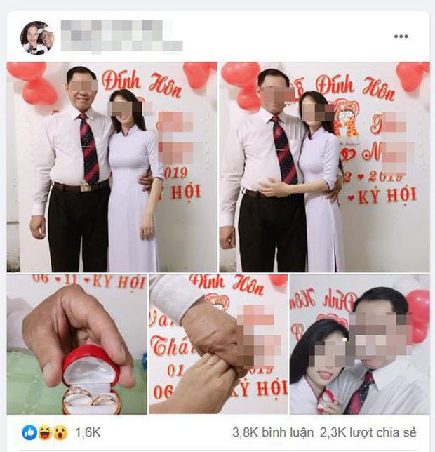 Hình ảnh 'lễ đính hôn của ông T. và N. được đăng trên trang cá nhân của ông T. và N.