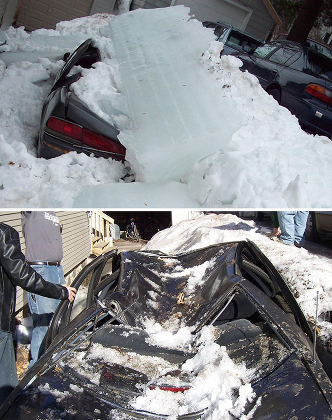 3. Bình tĩnh đi, chỉ là do băng tuyết thôi mà. Lại tốn tiền sửa xe rồi.
