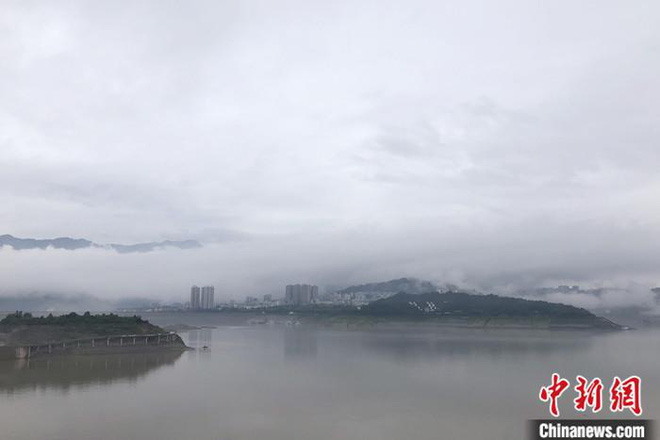 Hồ chứa nước ở đập Tam Hiệp (Ảnh: Chinanews)