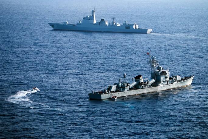 Tàu chiến Trung Quốc trong một cuộc tập trận trước đó gần quần đảo Hoàng Sa của Việt Nam. Ảnh: SCMP