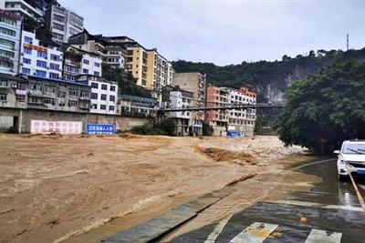 Nhiều địa phương Trung Quốc chìm trong biển lũ. Ảnh: THX