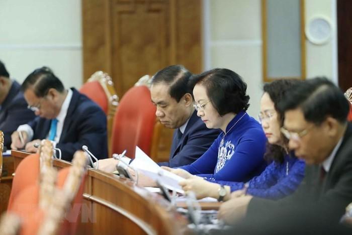 Các đại biểu dự hội nghị TƯ 12. Ảnh: TTXVN