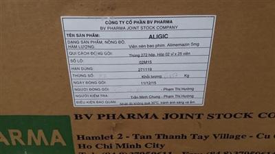 Thông tin cụ thể ghim trên nhãn thùng thuốc bị vứt bỏ ở vỉa hè Đại lộ Thăng Long, ngày 01/7.