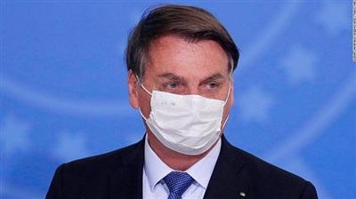 Tổng thống Brazil Jair Bolsonaro thông báo mắc COVID-19. (Ảnh: AP)