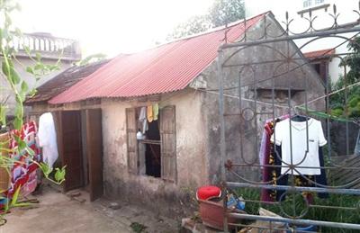 Ngôi nhà cụ N. sinh sống tại thôn Đoan Xuyên - Nơi xảy ra sự việc. Ảnh: Đ.Tùy