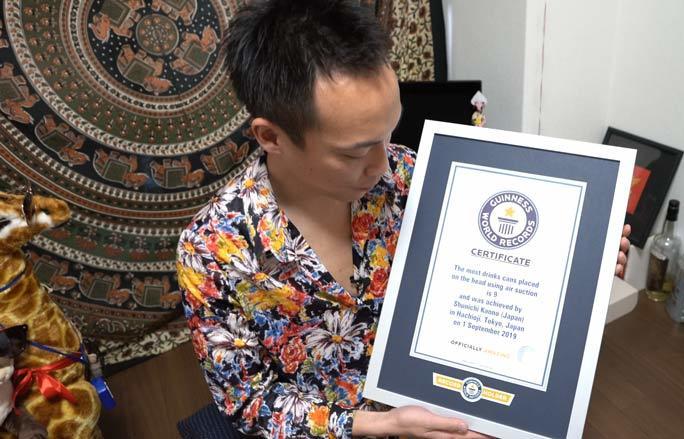 Shunichi Kanno của Nhật Bản lập kỷ lục Guiness thế giới
