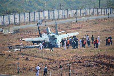 Tiêm kích MiG-29K hiện đại, vừa nhận từ Nga đã bị tai nạn.