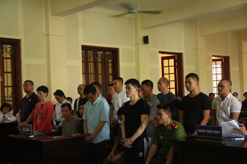 8 trong số 15 bị cáo bị viện kiểm sát đề nghị mức án tử hình.