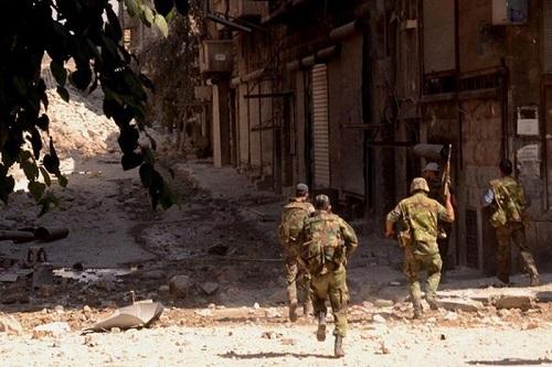 Quân đội Syria phá tan cuộc tấn công của khủng bố ở Latakia. Ảnh: AMN