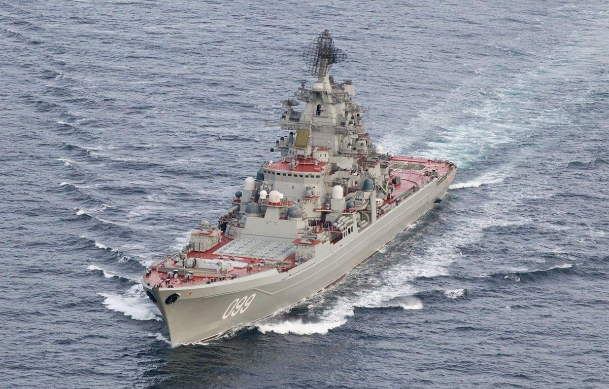 Tàu tên lửa hạng nặng chạy bằng năng lượng nguyên tử 'Đô đốc Nakhimov.' (Nguồn: The National Interest)
