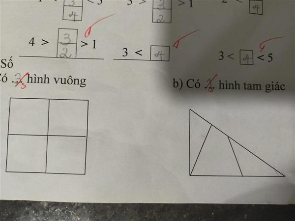 Bài toán được chia sẻ lên cộng đồng cha mẹ có con học lớp 1.