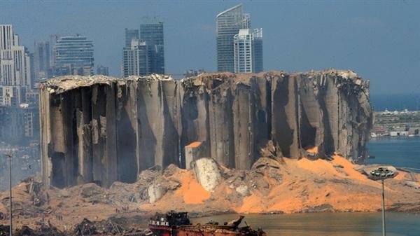 Hình ảnh hiện trường vụ nổ ngày 5/8/2020 tại cảng Beirut, Lebanon. Ảnh: AFP