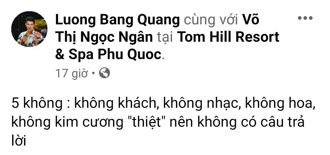Dòng chia sẻ của Lương Bằng Quang.