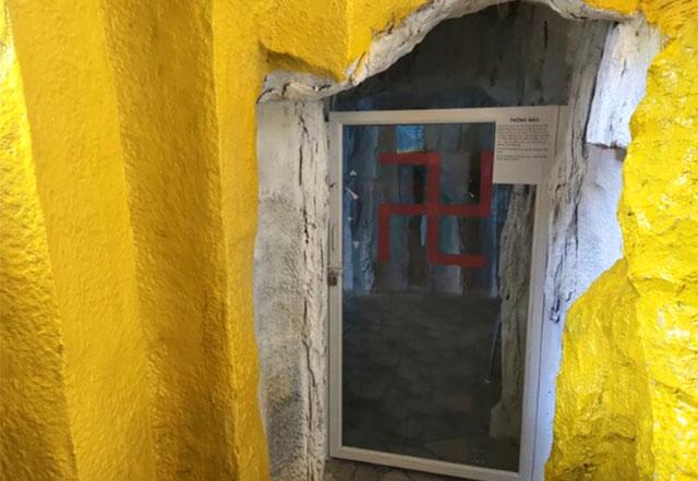 Hầm chứa cốt trước đó được niêm phong. Ảnh: báo Dân Trí