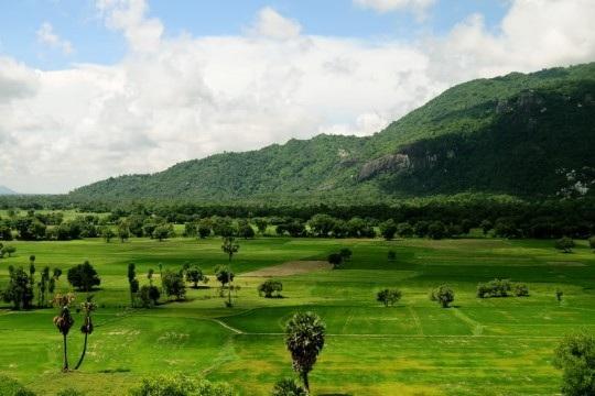Vùng núi Thất Sơn - nơi sư Chau Som tu hành và cứu người