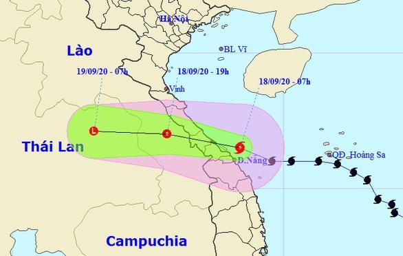 Đường đi của bão số 5 sau khi suy yếu thành áp thấp nhiệt đới - Ảnh: Trung tâm dự báo khí tượng thủy văn quốc gia